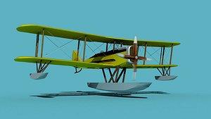 Airco DH-4 V04 Bush Seaplane 3D model