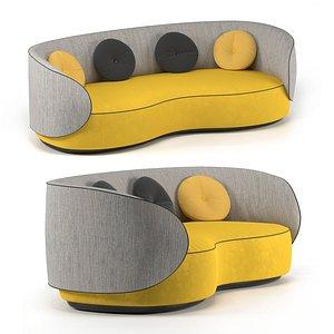 3D model Sofa Fusion Bean, CTS Salotti
