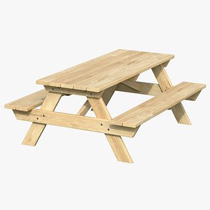 3D Picnic Table 01