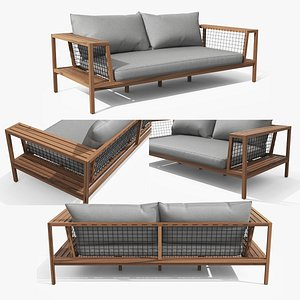 Callais Taupe Gray Sofa 3D model