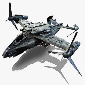 3D vtol a50 thunderbolt - model