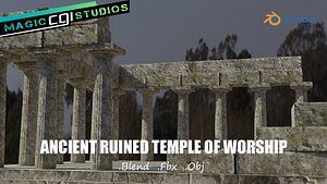3D model Ancient Ruined Temple Of Worship