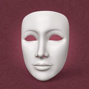 Woman Mardi Gras Mask 3D model