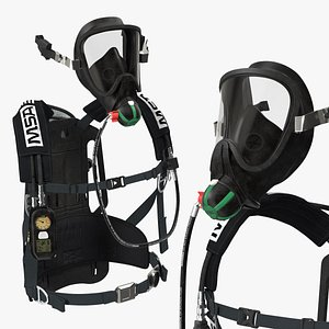 msa g1 scba breathing 3D