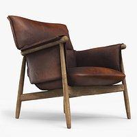 E015 Lounge Chair Brown Damaged