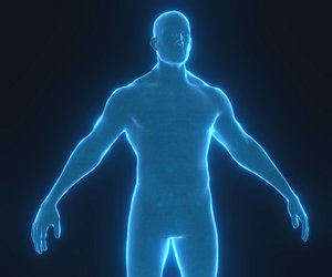 human hologram male 3D model