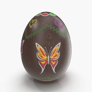 3D easter eggs holiday model