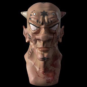 horned 3D model