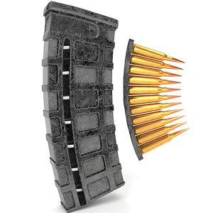 old bullets 3D model