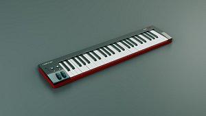 Nektar Impact SE-49 Midi Keyboard 3D model