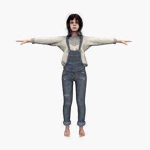 3D girl character human