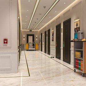 3D Interior Hotel Corridor Scene