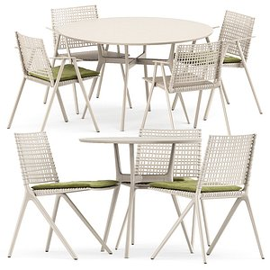 branch table chair 3D model