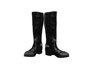 CL Flat Boots 3D model