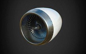 aircraft turbine 3D model