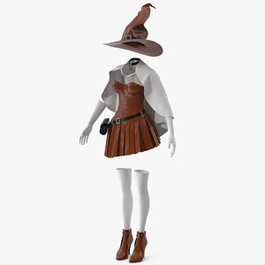 3D Witch Costume 6