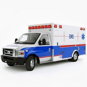 Ford E-450 Ambulance 3D model