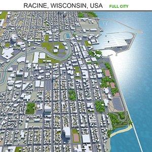 Racine Wisconsin USA 3D model