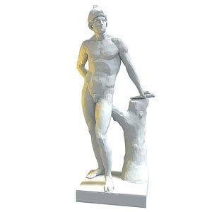 statue mars 3D model