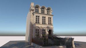 3D Classic Facade Building 02