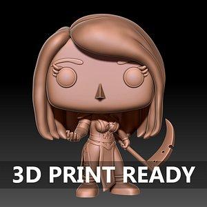 Funko Pop Figure 3D model
