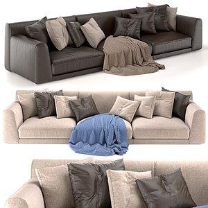 sofa paris poliform 3D model