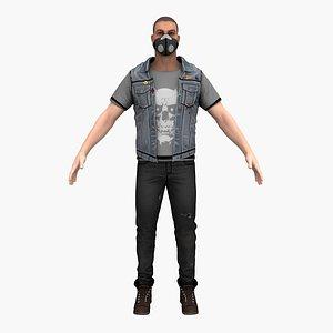 bandit man guy 3D model