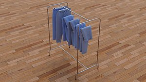3D Textured Hanged jeans Rack