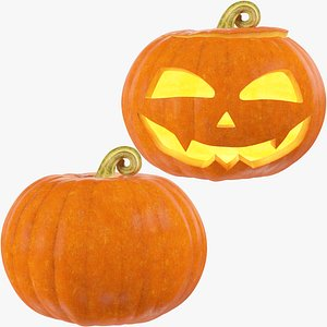 Halloween Pumpkins Collection V3 3D model