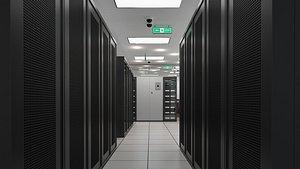 data room server room 3D model