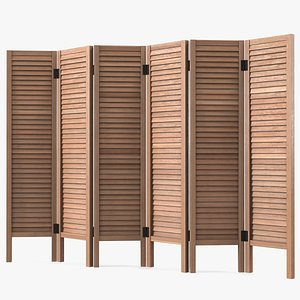 privacy screen panel brown 3D model