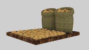 3D potato sack model