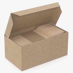 3D model wooden forks box