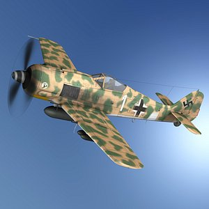 Focke Wulf - FW190 F8 - White 1 3D model