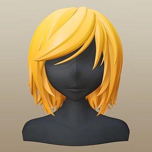 hair girl anime model