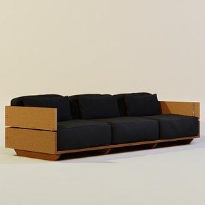 sofa paros 3D model