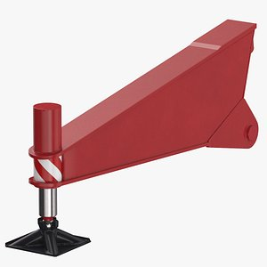 3D crane outrigger 04 red
