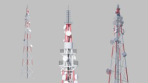3D telecommunication cell tower