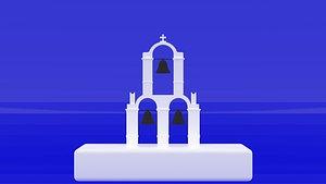 greece santorini bell 3D model