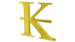 Kip currency sign 3D model