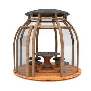 garden glass bell camellia 3D model