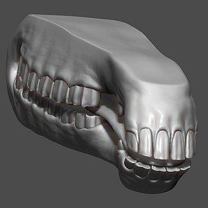 Horse Mouth ZBrush Sculpt 3D model