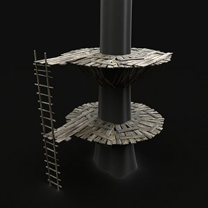tree wooden platform 3D model