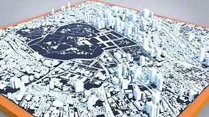3D Cityscape Tokyo Japan model