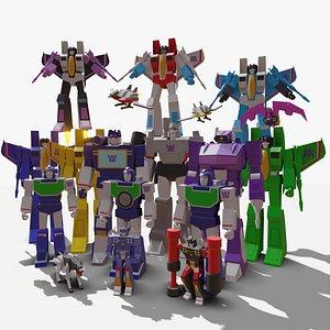 Transformers G1 Decepticons 3D