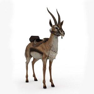 Gazelle Rigged 3D model