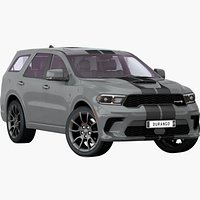 Dodge Durango SRT 2021 Opening Doors and Trunk