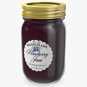jam jar blueberry 3D