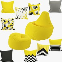 Bean Bag Chairs and Pillows Collection V1