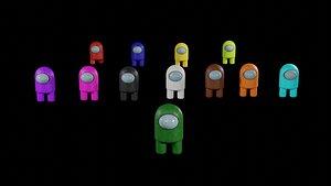 Among us all color model